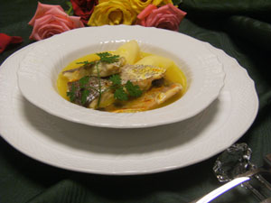 鴨胸肉のポアレジャガイモのコンフィ